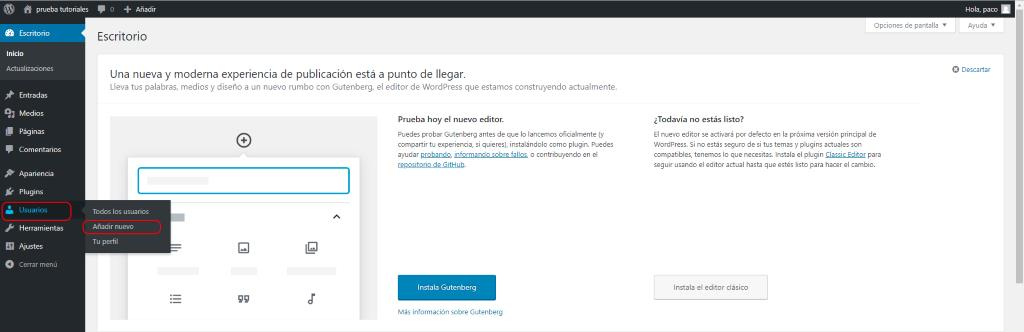 Tipos de Usuario en Wordpress 1